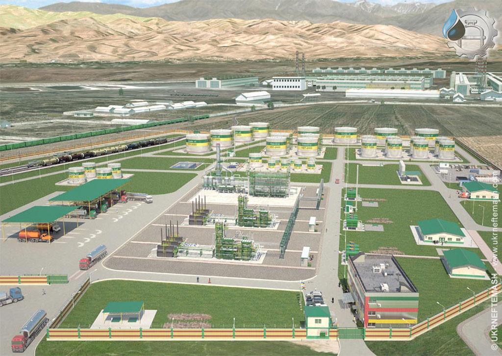 oil refinery Tursunzade, Tajikistan